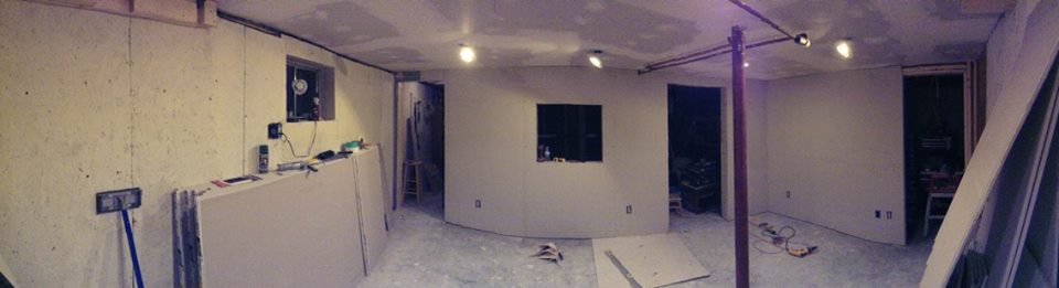 Starts to really feel like a room with the drywall up