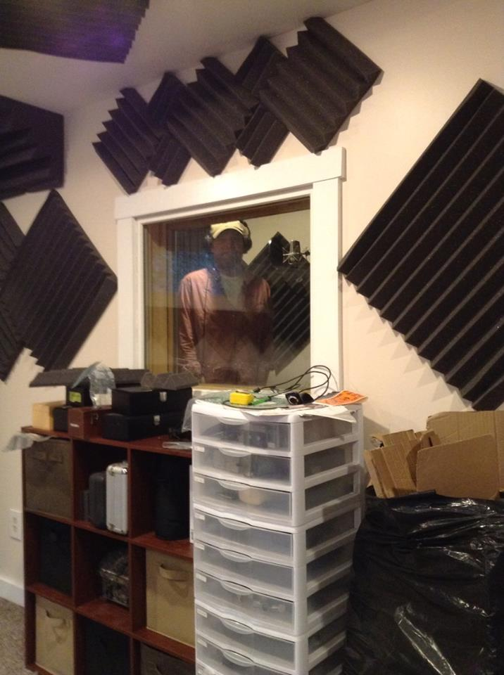 Paddy Mills first session in the new vocal booth