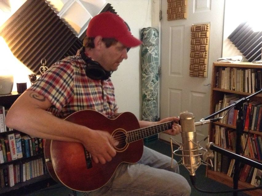 Paddy MIlls tracking with a Carter Ruff original guitar